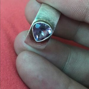 💫💫VINTAGE STERLING AND PURPLE AMETHYST RING💫💫